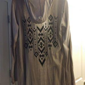 Western hooded shirt